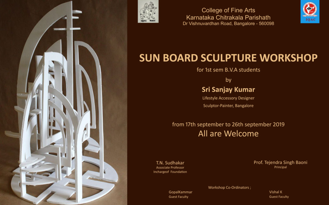 Sun-Board Sculpture Workshop 1st sem BVA – 2019